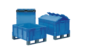 stackable boxes with skids